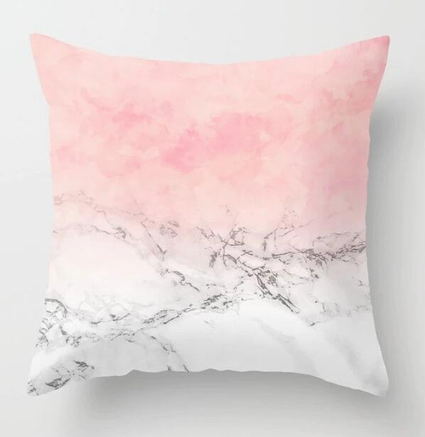 Pink Geometric Nordic Throw Pillow Case Tropic Pineapple Polyester Sofa Bed Decorative Cushion