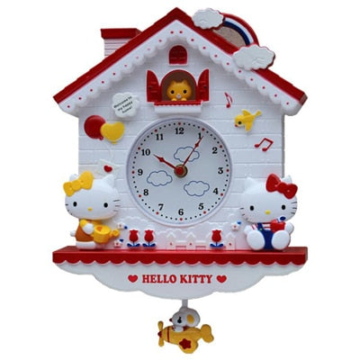 12 Inch Cartoon My Melody Swing Kids Girls Wall Quartz Clock