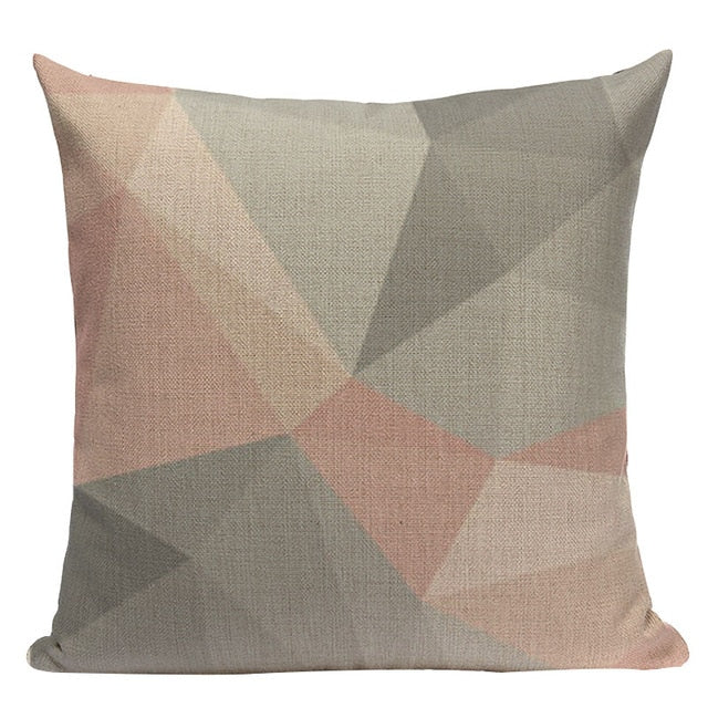 Nordic Pop geometry throw pillow cover home decorative car sofa linen cushion