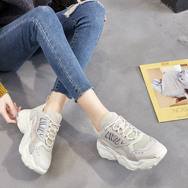 Fashion Women Platform Sneakers Casual Chunky Shoes