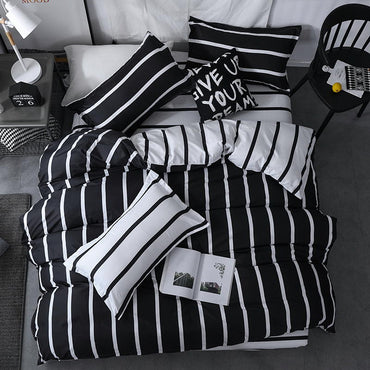 Black and White Checkered King Queen Full Twin Size Bedding Set