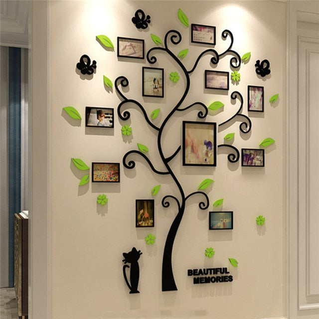 3D Tree Decal Sticker Acrylic Photo Album For Wall Sticker Decoration