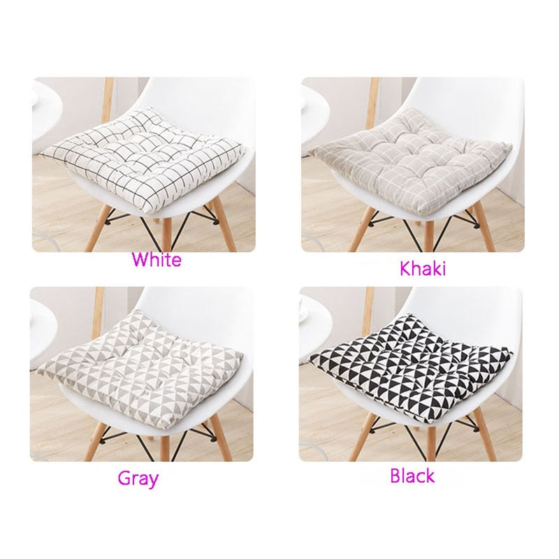 Anti-slip Chair Seat Pads With Cord Home Car Sofa Office Decoration Square Solid Seat Cushion