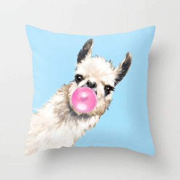 Cartoon Animal Unicorn Throw Pillow Giraffe Sofa Decorative Cushion