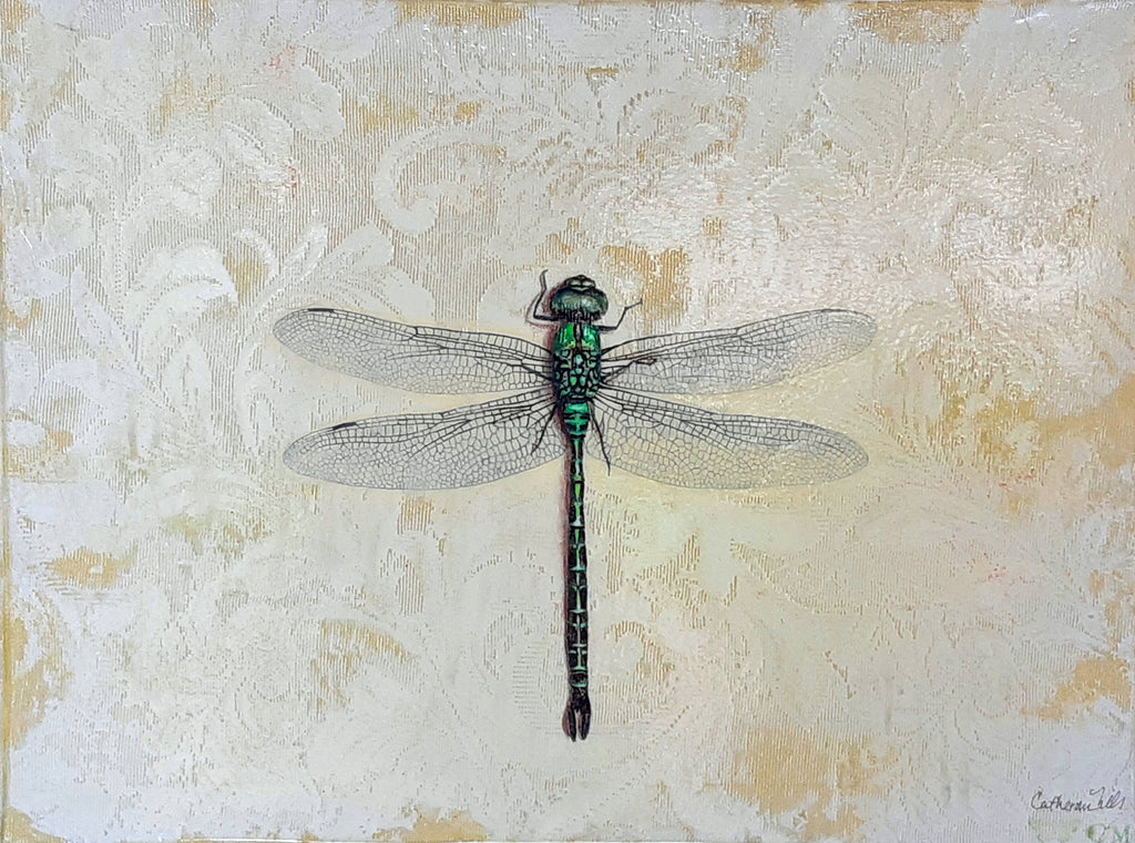 Catherine Mills Art Green Dragonfly | Available at artfully.ca