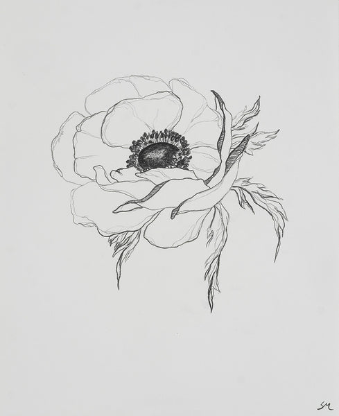 Sarah Mulder Art Anemone Study #9 | Available at artfully.ca