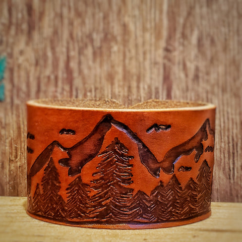 Mountain Leather Cuff