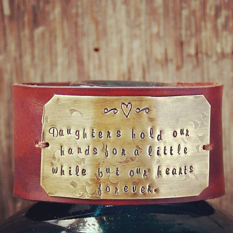 Chunky Leather Mom's Cuff Girls