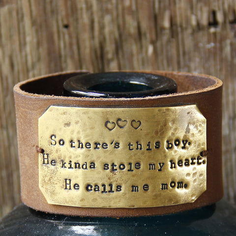 Chunky Leather Mom's Cuff
