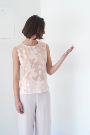 BAQUELITA, BLUSA DAMASCO REVERSIBLE