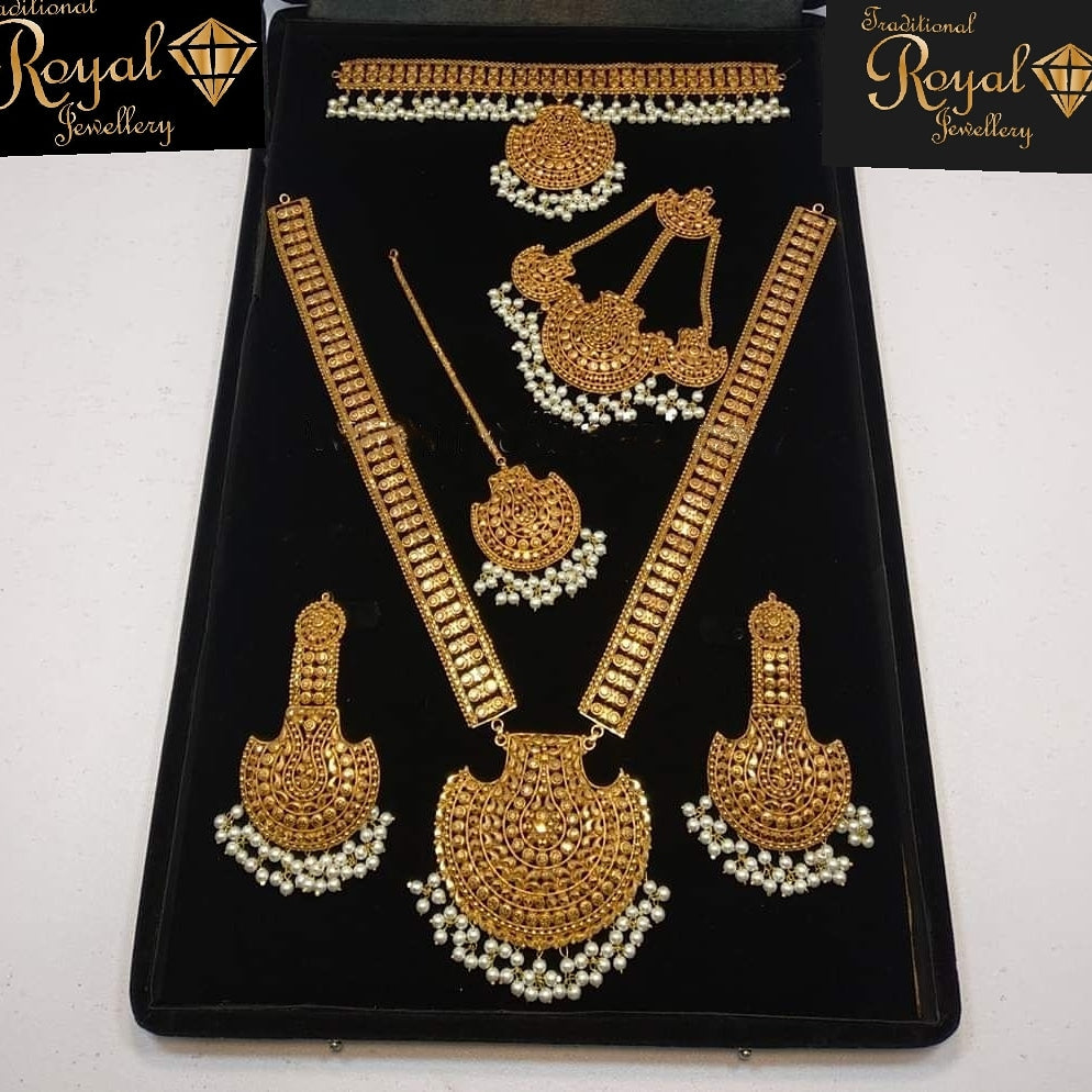 Tooba Gold Plated Bridal Jewellery Set