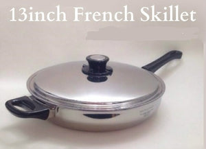 CLOSEOUT SALE 13in French Skillet w/cover 4½-quarts Made in USA