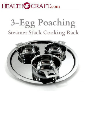 3-Cup Egg Poacher Rack fits 3Qt and 1¼Qt Sauté Saucepan