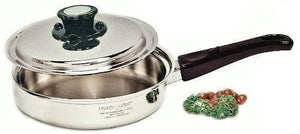 ONLY 2 LEFT - 5Ply Magnetic Surgical Stainless-Steel 9½-inch SAUTE SKILLET 1.7 Qt. w/Vented Lid - Display Item Minor Scratches