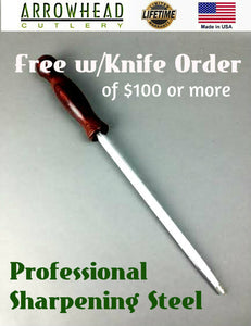 CLOSEOUT SALE Professional Sharpening Steel from Arrowhead Cutlery