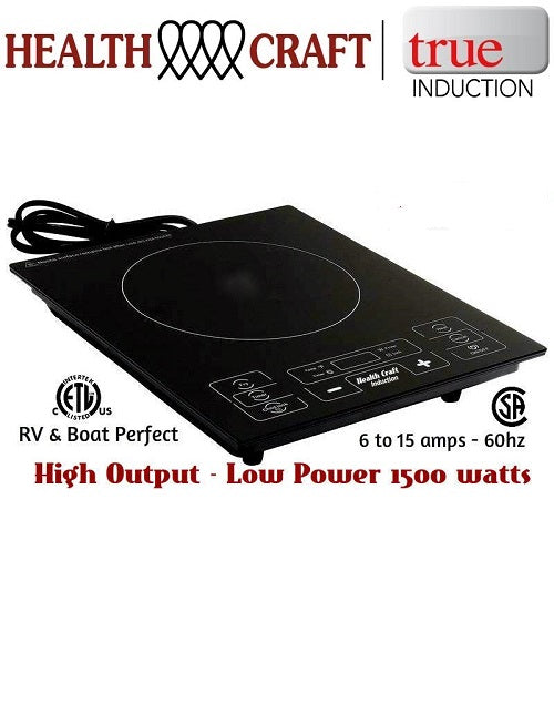 BEST BUY - Health Craft Single Burner Induction Cooktop - Counter Top or Counter Inset - 120V 1500watts