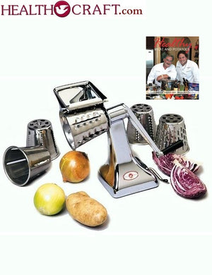 The Original Health Craft Kitchen Machine Rotary FOOD CUTTER and Cheese Grater - Single Base
