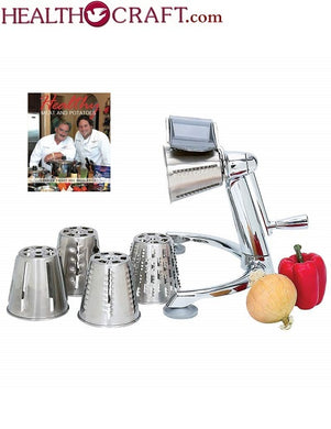 The Original Health Craft Kitchen Machine Rotary FOOD CUTTER and Cheese Grater - 3 Leg Base