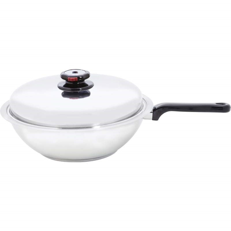 BEST BUY - 7Ply Magnetic Induction 12-inch STIR-FRY WOK Saucier w/vented lid