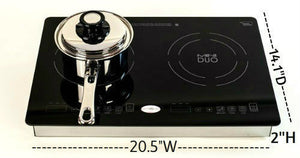 Health Craft™  Mini-Duo Induction Cooker  - Portable or Install - 120vac 1800watts