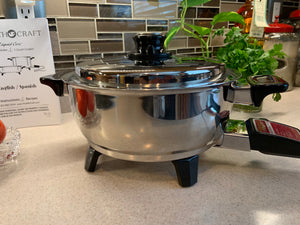 ONLY 1 LEFT 3Qt. Liquid Core Electric Saucepan w/ Vented Lid USA - Reconditioned