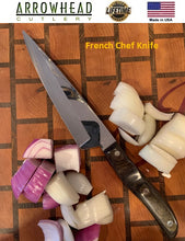 Load image into Gallery viewer, VINTAGE 1970's Ekco Arrowhead FRENCH CHEF KNIFE Handmade in the USA