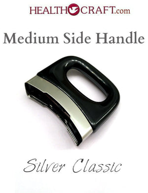 BLACK Silver Classic MEDIUM Side Handle - Snap-on No Screw - Fits SS 1¼ 3  4  6½qt