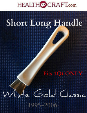White Gold Classic 1QT SHORT Long Handle w/Gold Flame Guard