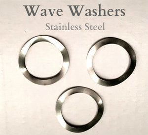 3 Stainless Steel WAVE WASHERS for vent knobs 1983 to 2018