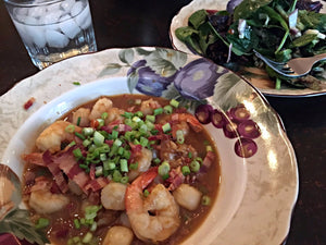 Shrimp & Bay Scallops in a Spicy Garlic Ginger Sauce