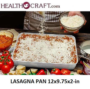 Large LASAGNA PAN 12.3x9.75x2-inch 18/10 Stainless Steel - ONLY 3 LEFT