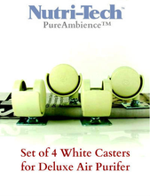 Load image into Gallery viewer, Set of 4 White CASTERS for Pure Ambience / Nutri-Tech Deluxe Air Purifier