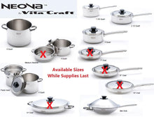 Load image into Gallery viewer, Neova Pro CLOSEOUT SALE 3 PC PASTA SET 5PLY 304 Surgical Stainless Steel Made in USA