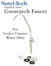 Load image into Gallery viewer, Nutri-Tech® Stainless Steel Gooseneck Faucet for under-counter water filter