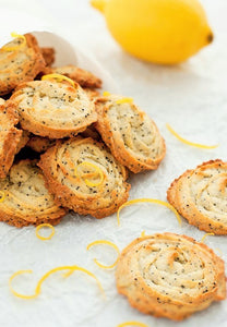 Pan Baked Poppy Seed Icebox Cookies