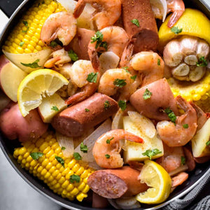 NEW 30 Qt. STOCKPOT w/Vapor Vent & STEAMER BASKET - 7Ply 304 Magnetic Surgical Stainless Steel - See Seafood Boil Recipe