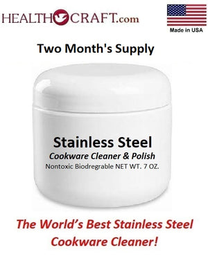 NEW! Health Craft STAINLESS-STEEL CLEANER and POLISH for Waterless Cookware - Order THREE get ONE Free!