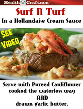 Load image into Gallery viewer, Surf & Turf with Hollandaise Cream Sauce