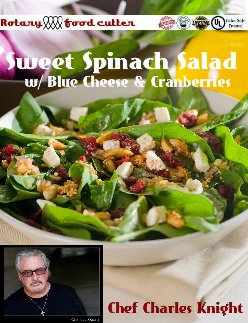 Sweet Spinach Blue Cheese Salad with Cranberries