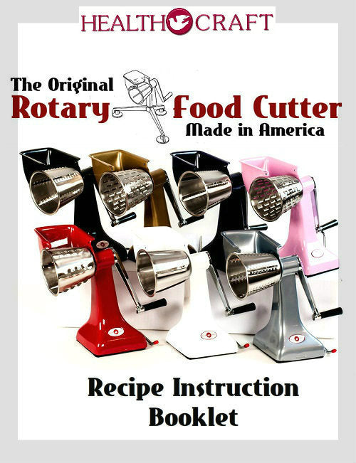 Saladmaster HealthCraft FOOD CUTTER Recipe Instruction Cookbook