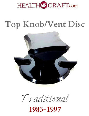 Black Traditional Top Knob and Vent Disc w/wave washer 1983-1997