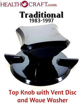 Load image into Gallery viewer, Black Traditional Top Knob and Vent Disc w/wave washer