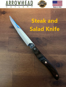 Vintage Ekco Arrowhead STEAK & SALAD KNIFE Handmade in the USA