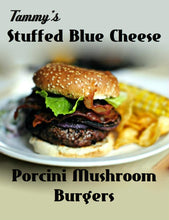 Load image into Gallery viewer, Tammy's Stuffed Blue Cheese Porcini Mushroom Burgers