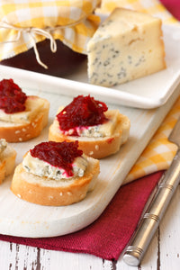 Beet Jam Eingemacht - with Blue Cheese on a Crostini