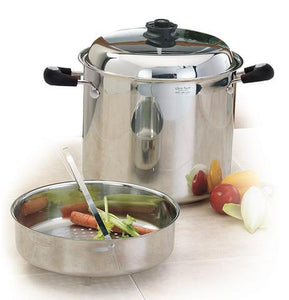 7Pc. Ultra-Core STOCKPOT SET 8, 12, 26 Qt. with large Culinary Basket.