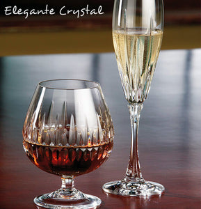 Elegante Collection  Mouth-Blown Hand-Cut Polished Crystal