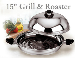 15-inch Grill and Roaster with Exclusive Vented Dome Cover