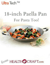 Load image into Gallery viewer, Utra-Tech 18 inch Paella and Pasta Pan