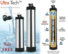 Load image into Gallery viewer, Ultra-Tech Stainless Steel Whole House Water Filtration System and Softener